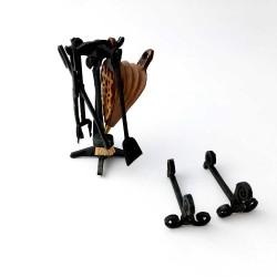 Kit ferramentas de lareira
